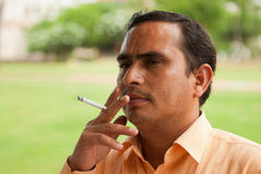 Smoking in India Stock Photography