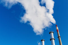 Smoking industrial chimney Royalty Free Stock Photo