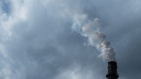 Smoking industrial chimney, pollution concept Stock Images