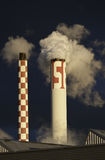 Smoking industrial chimneys Royalty Free Stock Photos