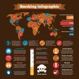 Smoking Infographics Set Royalty Free Stock Photos