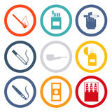 Smoking Isolated icons Royalty Free Stock Photo