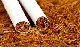 Smoking issues, tobacco and nicotine addiction , health theme Royalty Free Stock Images