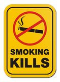 Smoking kill sign Royalty Free Stock Image