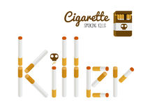 Smoking killer typography. Stock Images