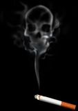 Smoking Kills. An illustration of skull shaped smoke comes out from cigarette Stock Photo