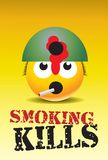 Smoking kills. Colorful vector poster against smoking Stock Image