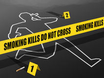 Smoking Kills-Do not Cross Royalty Free Stock Image