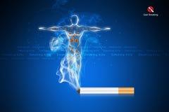 Smoking kills human body Stock Images