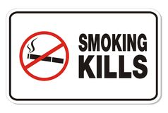 Smoking kills - rectangle signs Stock Photography