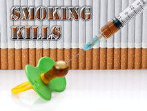 Smoking kills. SOS Stock Image