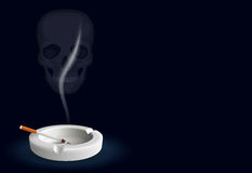 Smoking kills theme illustration Royalty Free Stock Photography