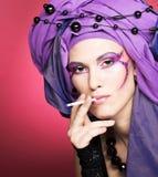 Smoking lady Stock Photography