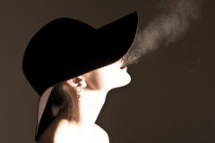 Smoking Lady Royalty Free Stock Images