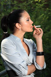 Smoking Lady Stock Images