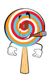 Smoking Lollipop cartoon Stock Photos