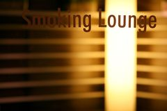 Smoking lounge. Or smoking room royalty free stock photography