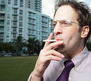 Smoking male Royalty Free Stock Photo