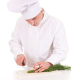 Smoking male cook Stock Photo