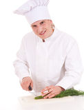 Smoking male cook Royalty Free Stock Photo