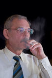 Smoking man Royalty Free Stock Photography