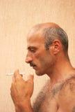 Smoking man Royalty Free Stock Images