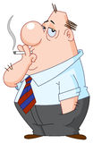 Smoking man Stock Image