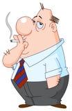 Smoking man Stock Image