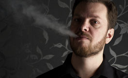 Smoking man Stock Photos