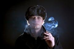 Smoking man Stock Photography