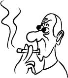 Smoking man Royalty Free Stock Photo