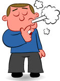 Smoking Man Cartoon Stock Photo