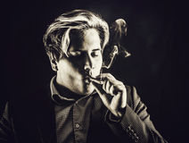 Smoking man Royalty Free Stock Photography