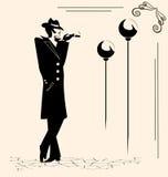 Smoking man Stock Images