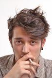 Smoking man. Stock Images