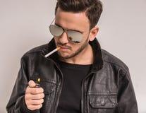 Smoking man Stock Photos