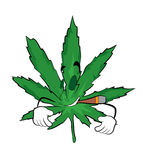 Smoking marihuana cartoon Royalty Free Stock Photography