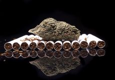 Marijuana and Tobacco Royalty Free Stock Image