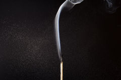 Smoking match. A smoking match after water spray on it Royalty Free Stock Photography