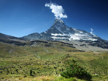 ,,Smoking Matterhorn Royalty Free Stock Images