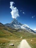 ,,Smoking Matterhorn. Landscape from Pennine Alps with Matterhorn, Switzerland Royalty Free Stock Photos