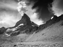 ,,Smoking Matterhorn. Landscape from Pennine Alps with Matterhorn, Switzerland Royalty Free Stock Photo