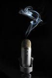Smoking Mic 1 Stock Image