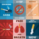 Smoking Mini Poster Set Royalty Free Stock Images