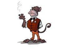 Smoking monkey Stock Photos