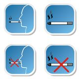 Smoking and no smoking sign Stock Images