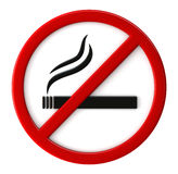 Smoking not allowed. 3d render of smoking not allowed sign Royalty Free Stock Photo