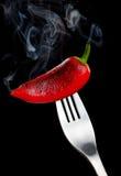Smoking pepper Royalty Free Stock Photos