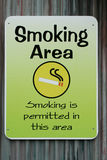 Smoking permitted sign Royalty Free Stock Photography