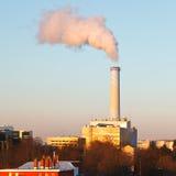 Smoking pipe. Of power plant Royalty Free Stock Photos